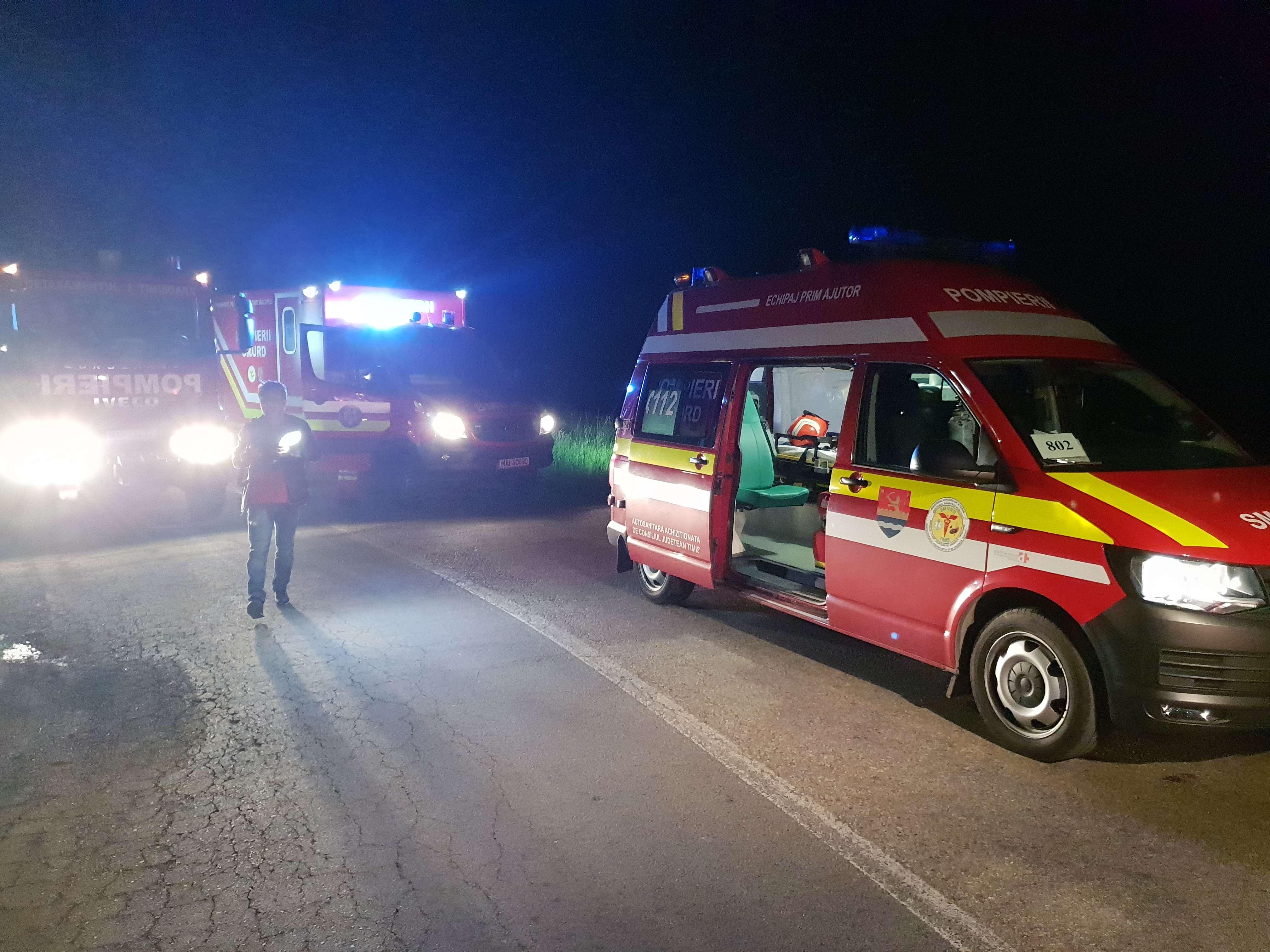 Accident produs pe fondul consumului de alcool! Patru persoane au fost rănite!
