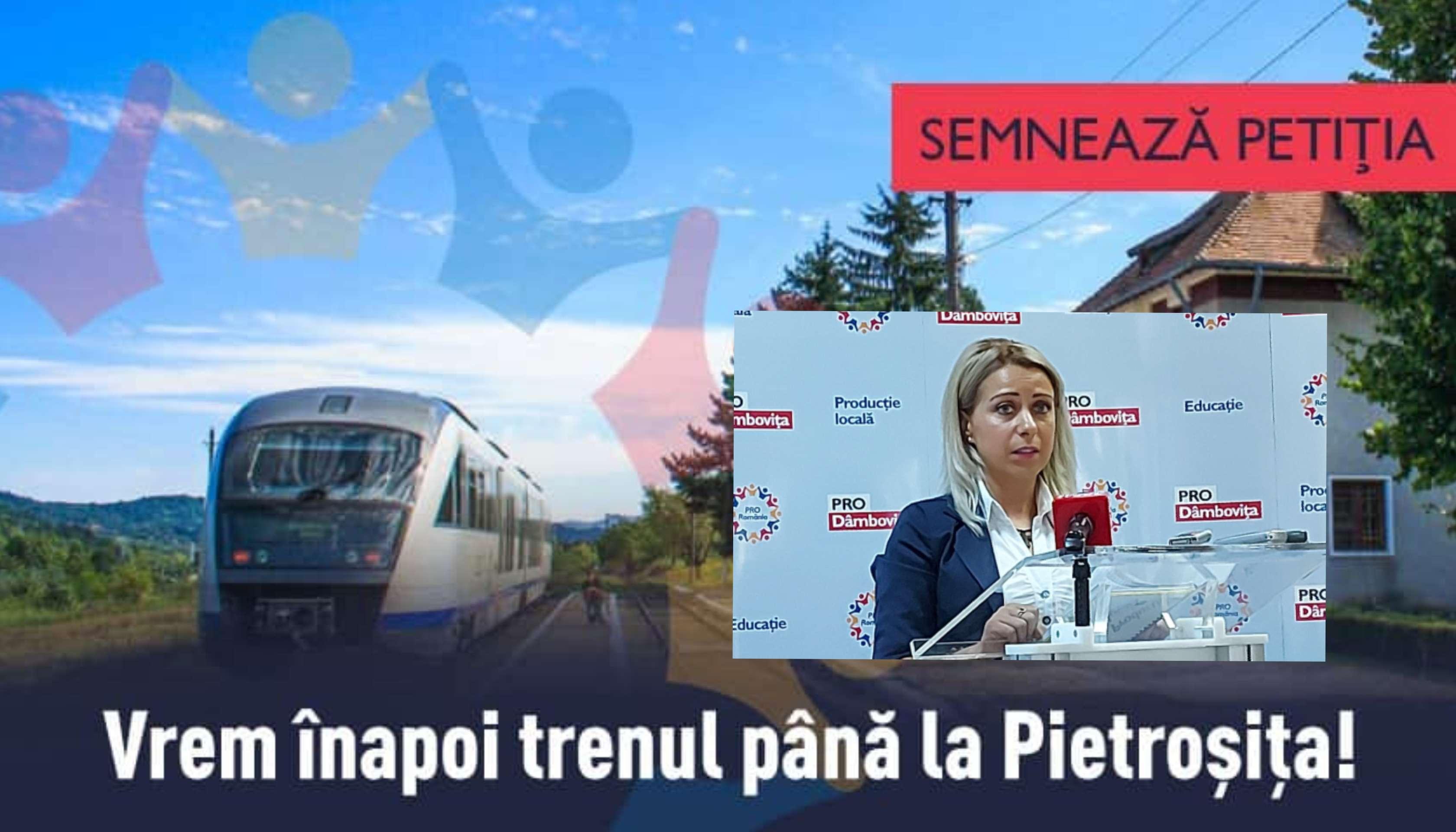 Ioana Popoviciu de la ProRomânia, luptă pentru reintroducerea trenurilor pe ruta Târgoviște-Pietroșița