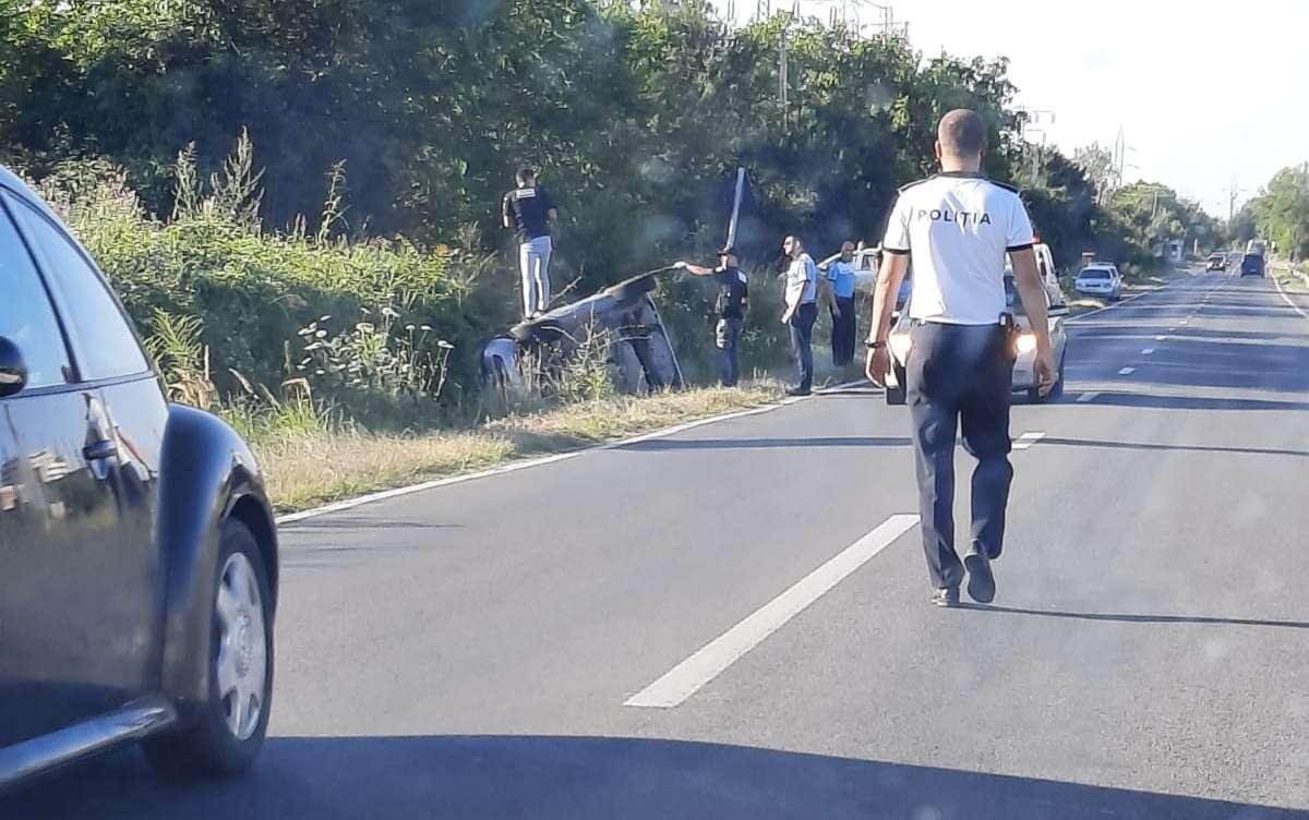 Accident spectaculos pe Drumul Național 71! O persoană a fost rănită!