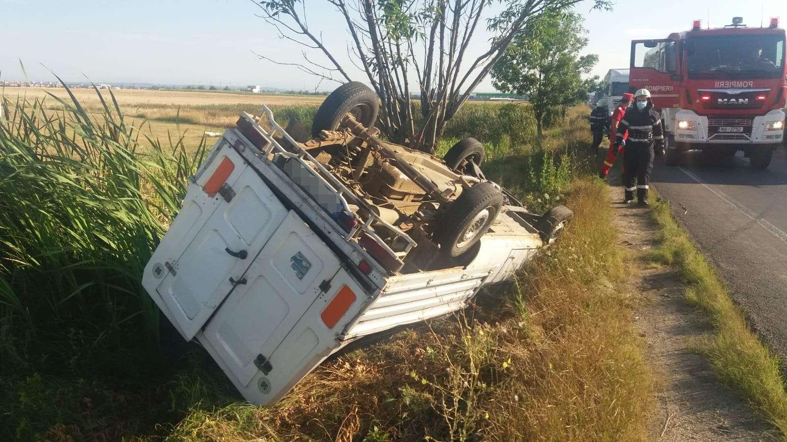 Accident violent pe Drumul Național 65! O persoană a fost rănită!