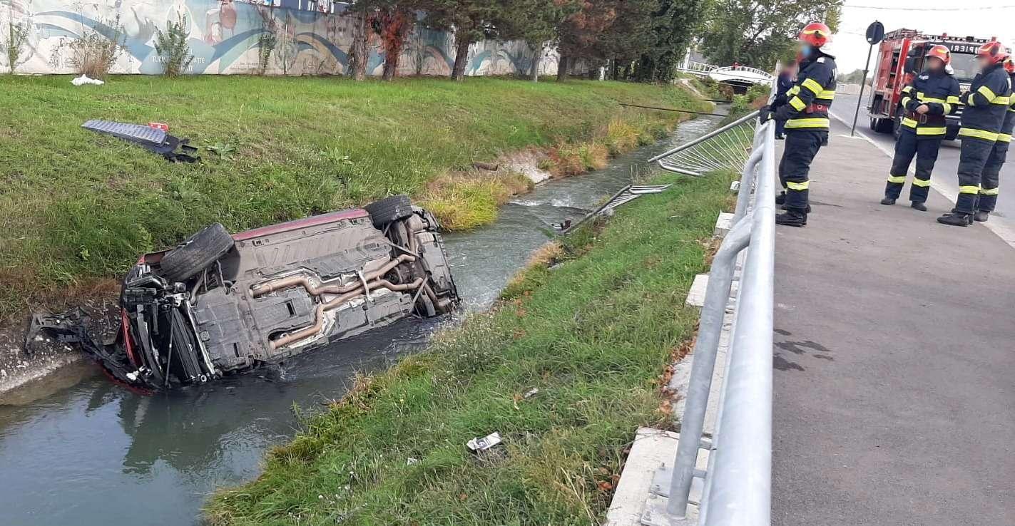 Accident în Târgoviște! O persoană a fost rănită!