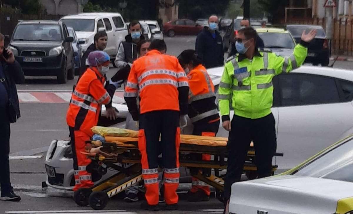 Accident în Târgoviște, pe Calea Domnească! O persoană a fost rănită!