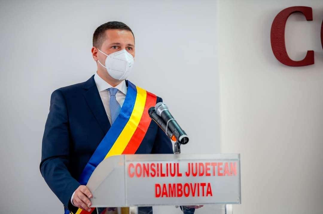 Corneliu Ștefan, primul mesaj de la instalarea în funcția de președinte al Consiliului Județean Dâmbovița