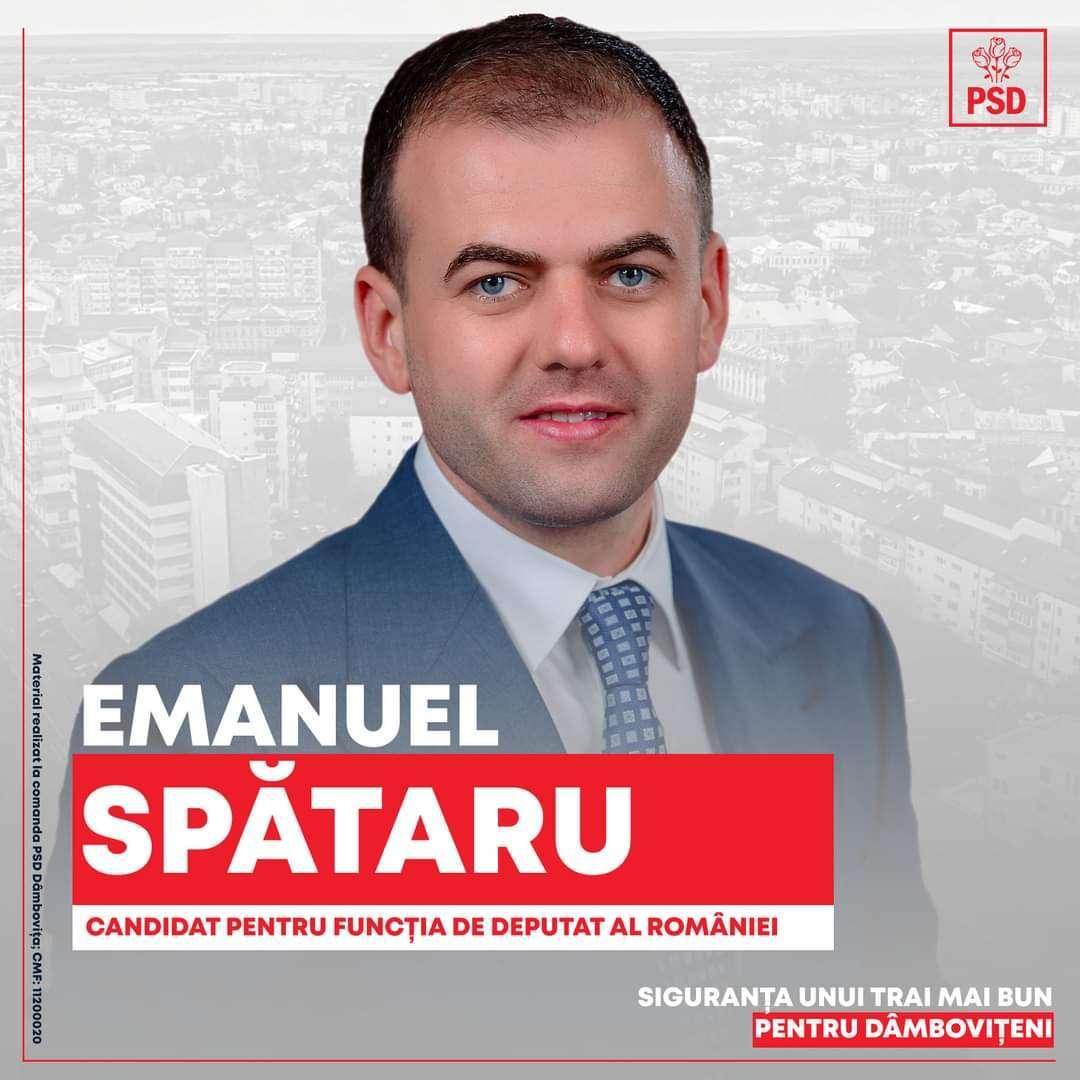 PROFIL DE CANDIDAT: Emanuel SPĂTARU, PSD Dâmbovița, pentru CAMERA DEPUTAȚILOR din Parlamentul României!