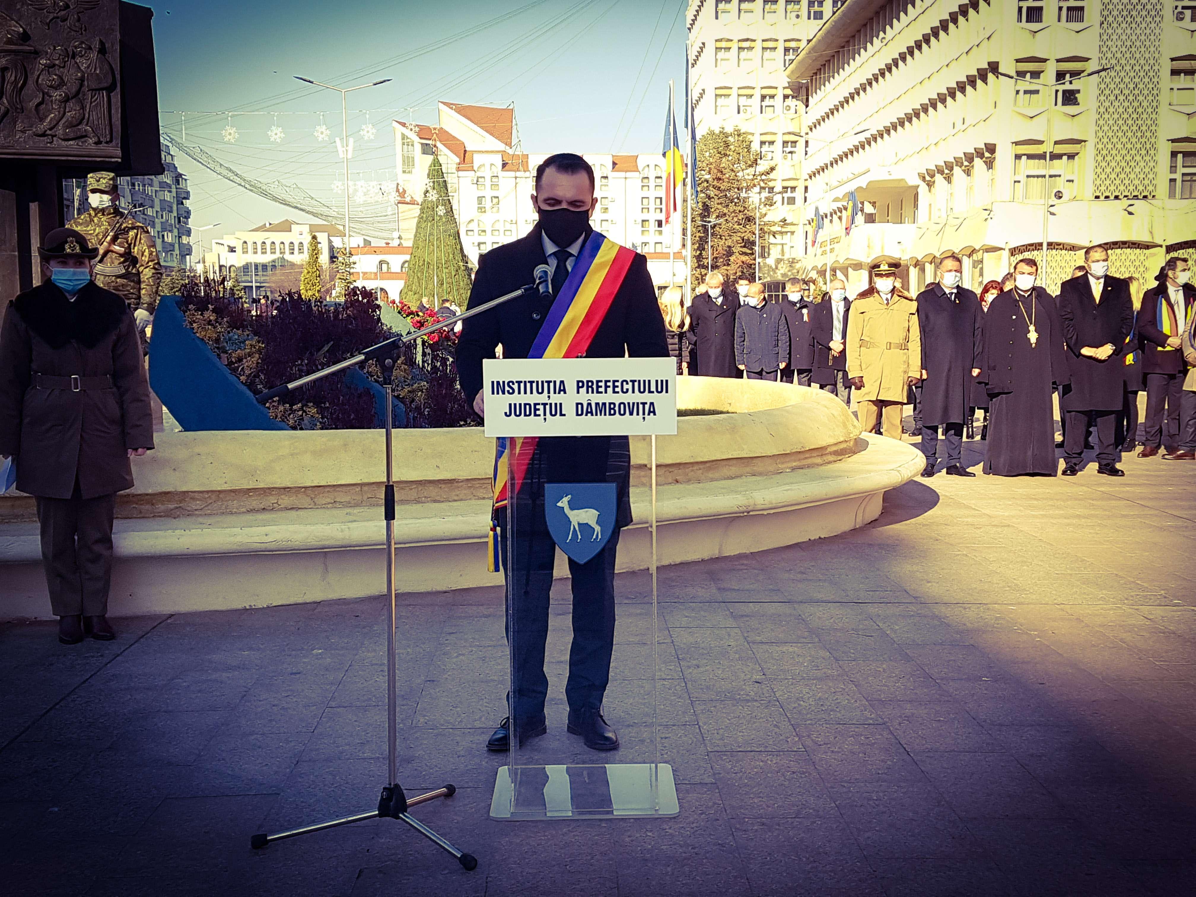 Cristian Stan, primarul municipiului Târgoviște: Mai puternic ca niciodată, mai apăsător și mai înălțător în același timp, astăzi este vorba de românism