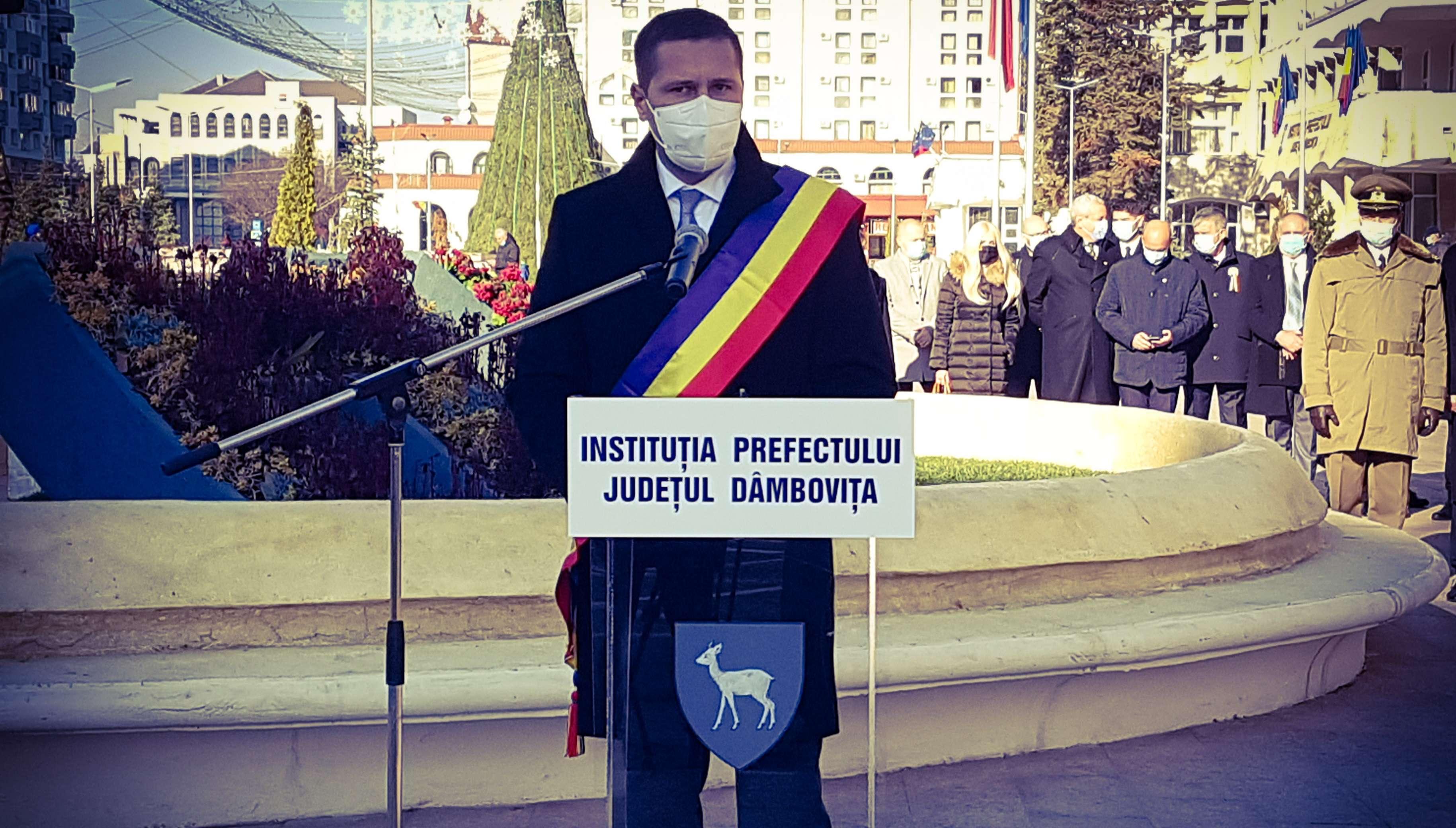 Președintele CJD, Corneliu Ștefan: Să ne unim eforturile, să fim uniți, să acționăm ca o națiune demnă și puternică, să ne respectăm trecutul și prezentul!