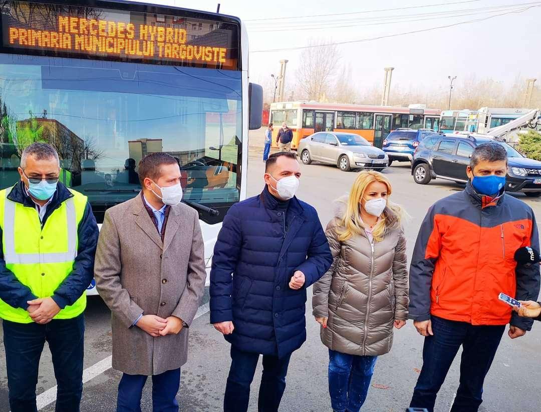 Primul autobuz Mercedes-Benz Citaro Hybrid, cumpărat de către Primaria Targoviște, a ajuns la Târgoviște