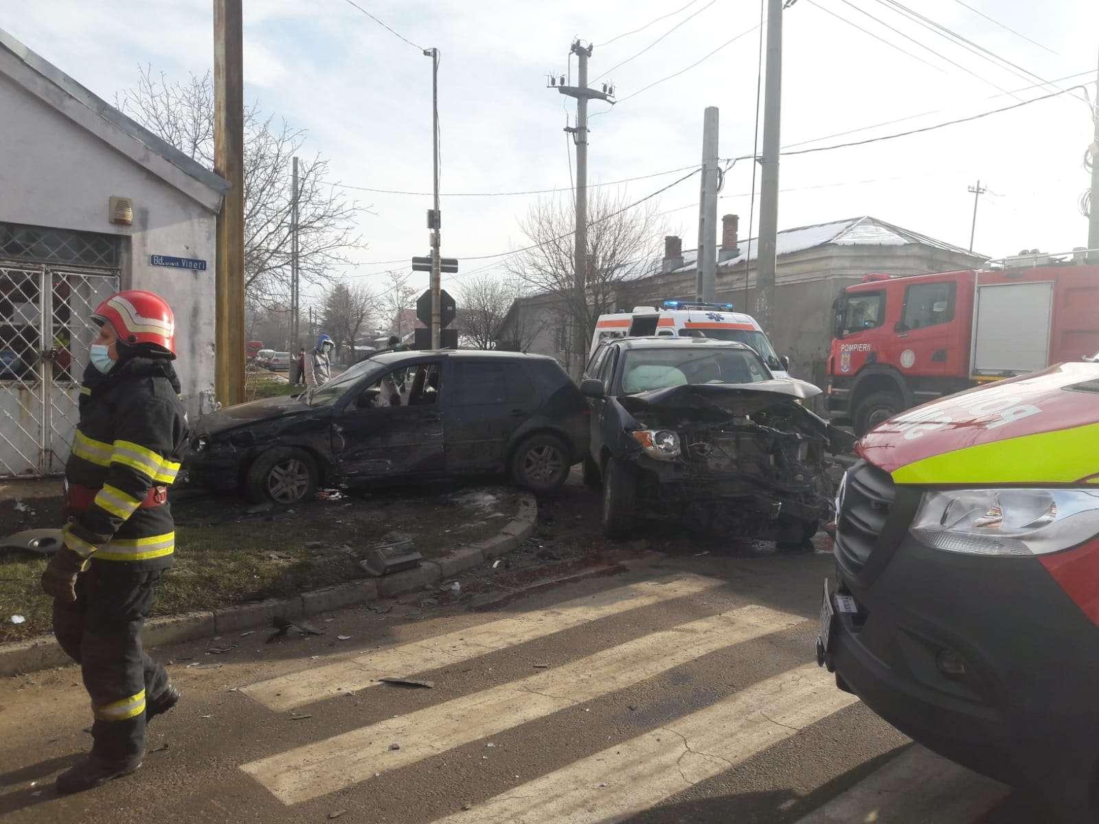 Accident violent în Teleorman! 3 persoane au fost rănite!
