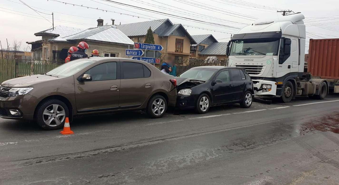 Accident în lanț în localitatea ULMI! Din fericire nimeni nu a fost rănit!
