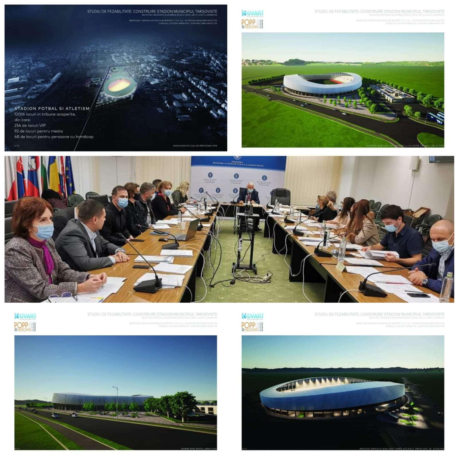 Stadion nou la Târgoviște! Președintele Corneliu Ștefan a prezentat proiectul în fața Comisiei Tehnico-Economice a Ministerului Dezvoltării